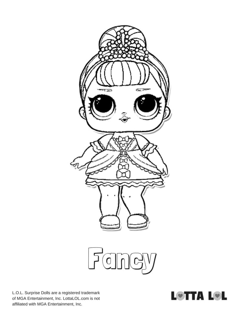 Fancy LOL Surprise Doll Coloring