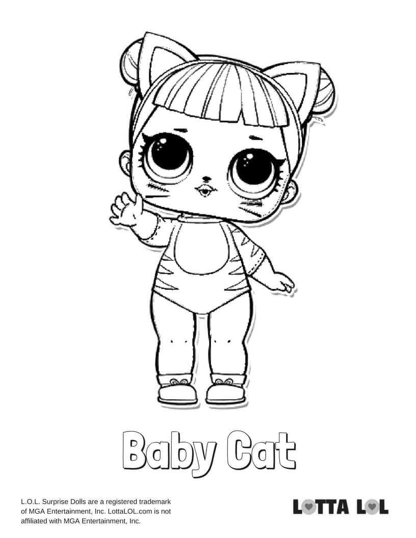 Baby Cat LOL Surprise Doll Coloring