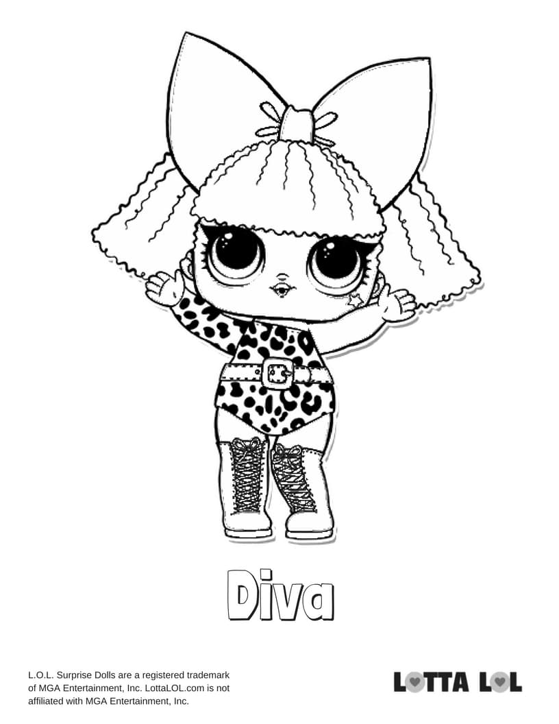 Diva LOL Surprise Doll Coloring