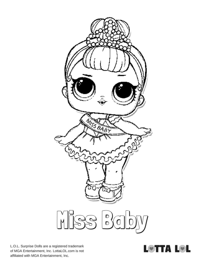 Miss Baby LOL Surprise Doll Coloring