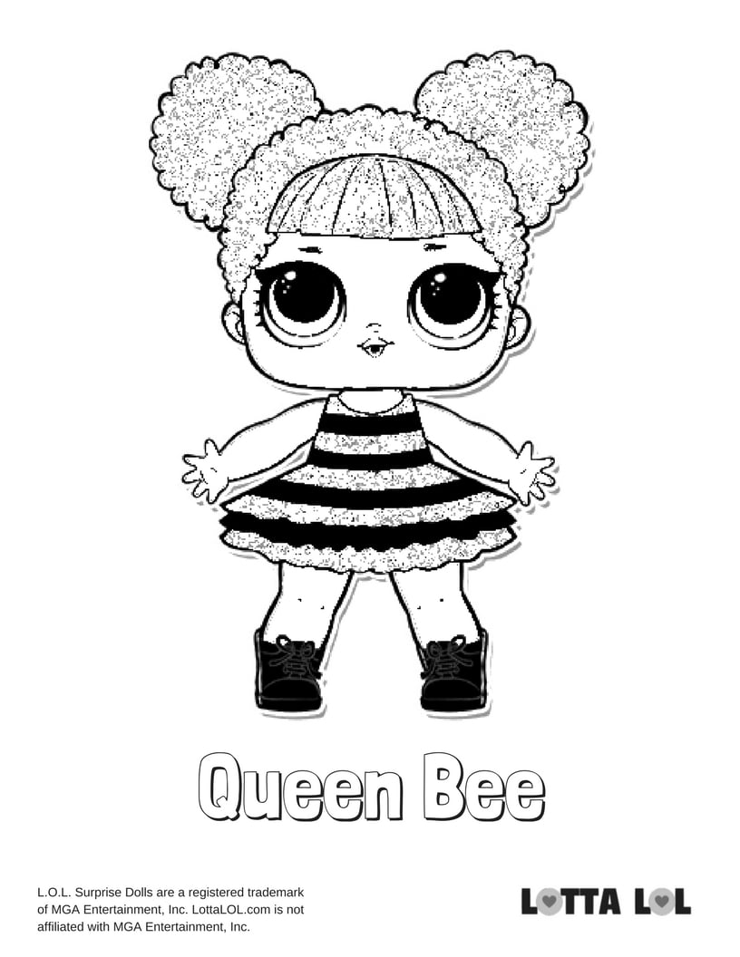 Queen Bee Free Coloring Pages