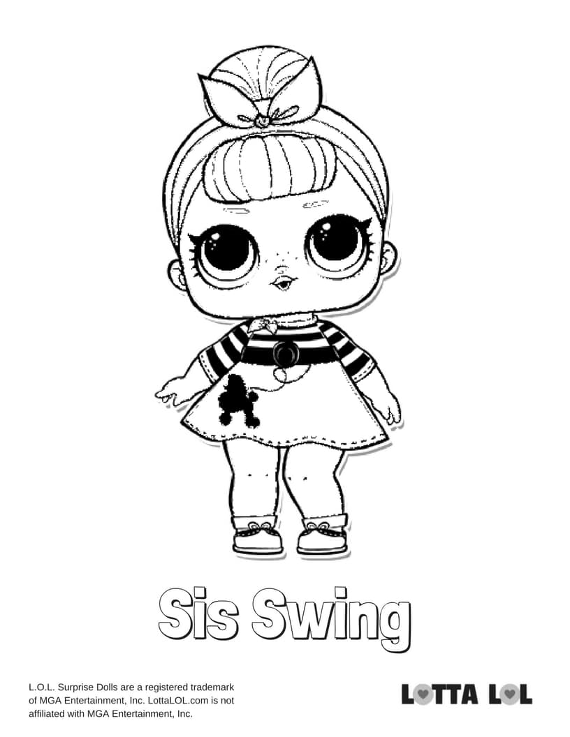 Sis Swing LOL Surprise Doll Coloring