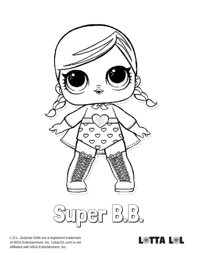 Super BB LOL Surprise Doll Coloring