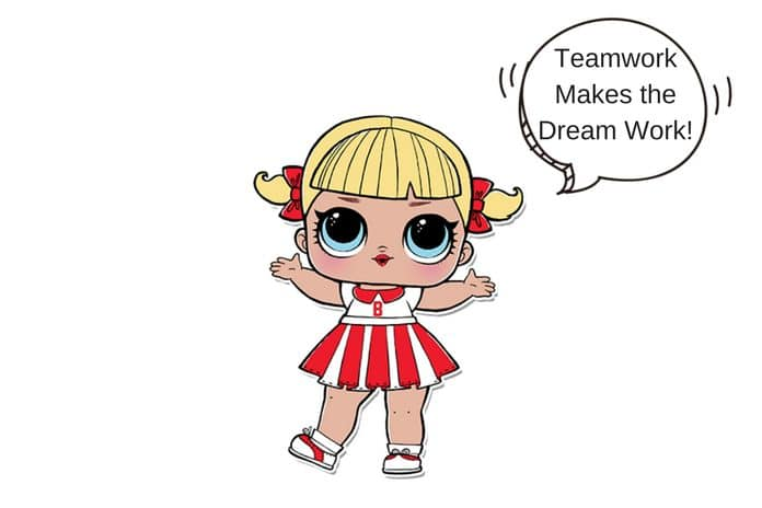 Cheer Captain LOL Surprise Doll Coloring Page | Lotta LOL
