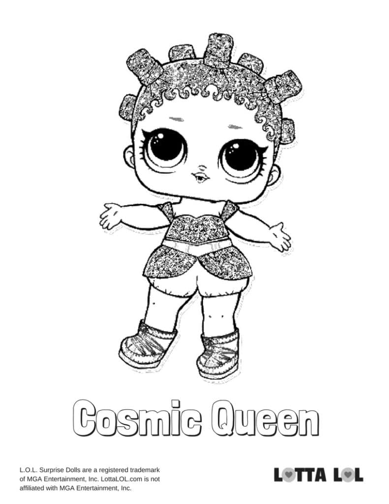 Cosmic Queen Glitter Lol Surprise Doll Coloring Page