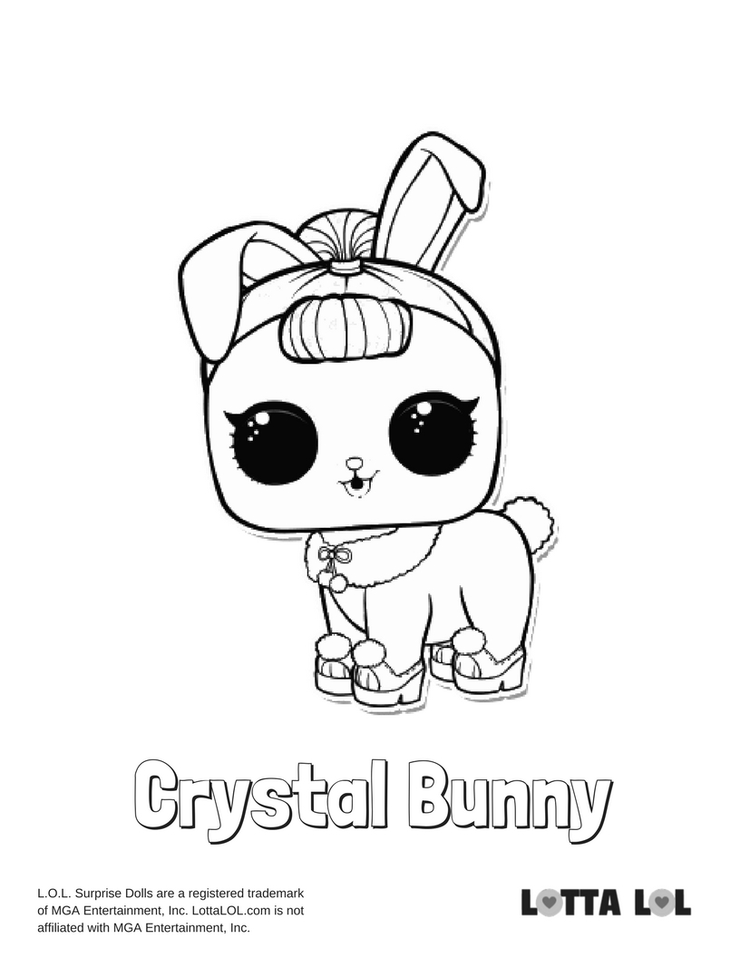 Crystal Bunny LOL Surprise Doll Coloring Page Lotta LOL
