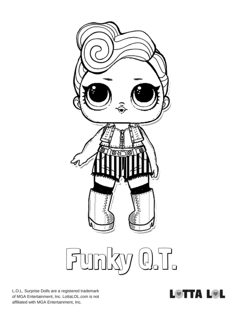Funky QT LOL Surprise Doll Coloring