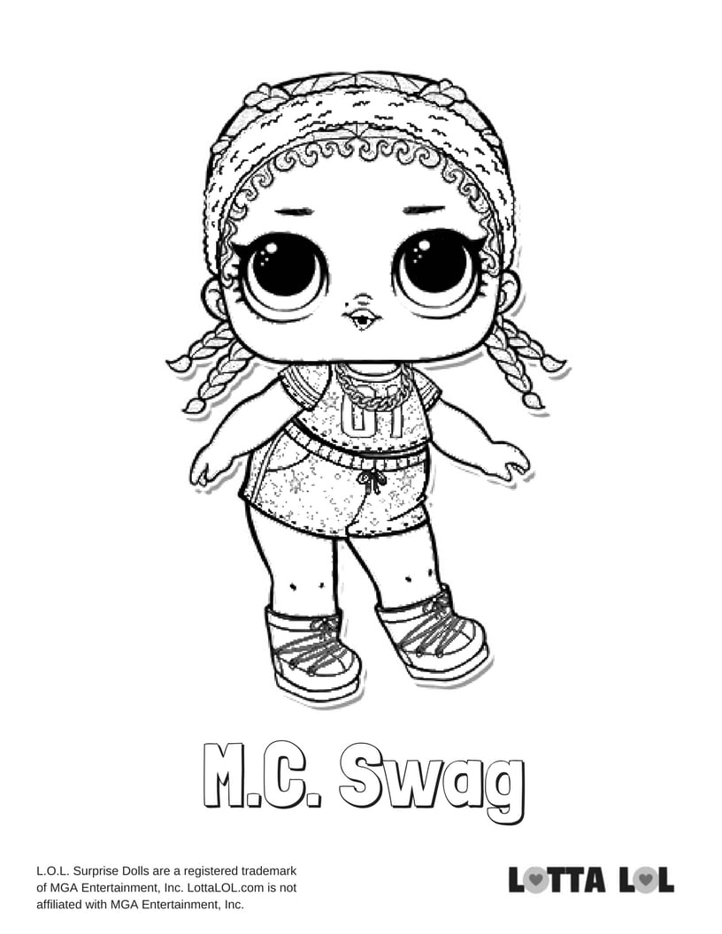 MC Swag Glitter LOL Surprise Doll