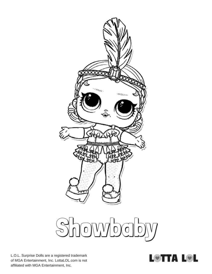 Showbaby LOL Surprise Doll Coloring