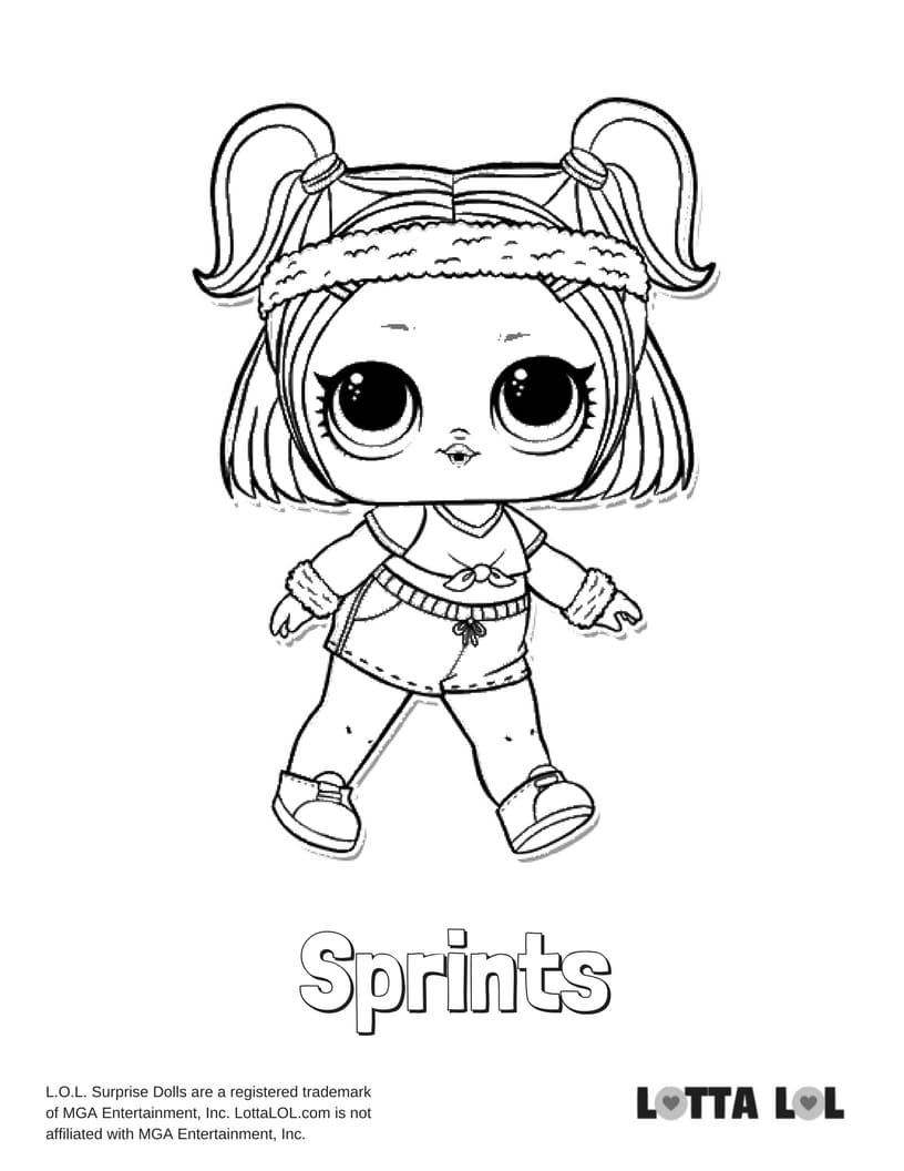Sprints LOL Surprise Doll Coloring