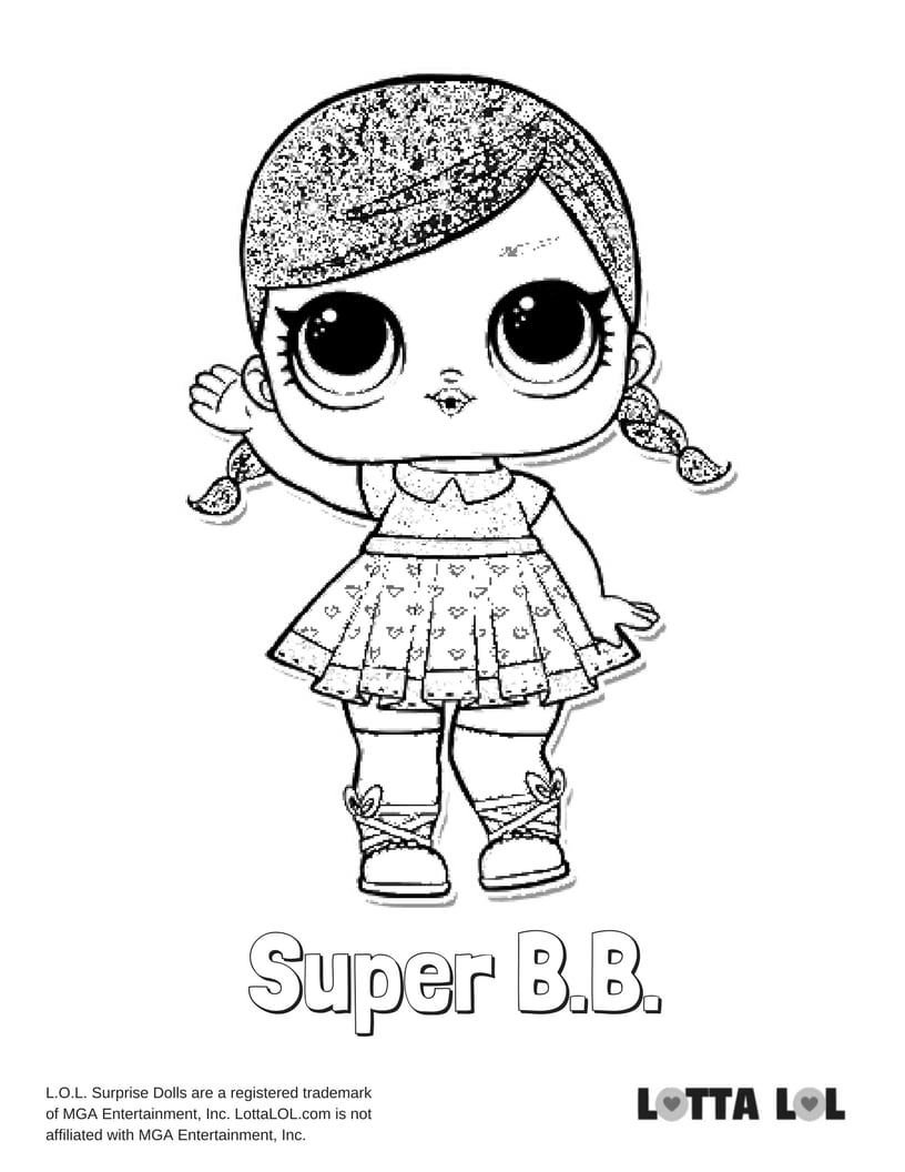 Super BB Glitter LOL Surprise Doll
