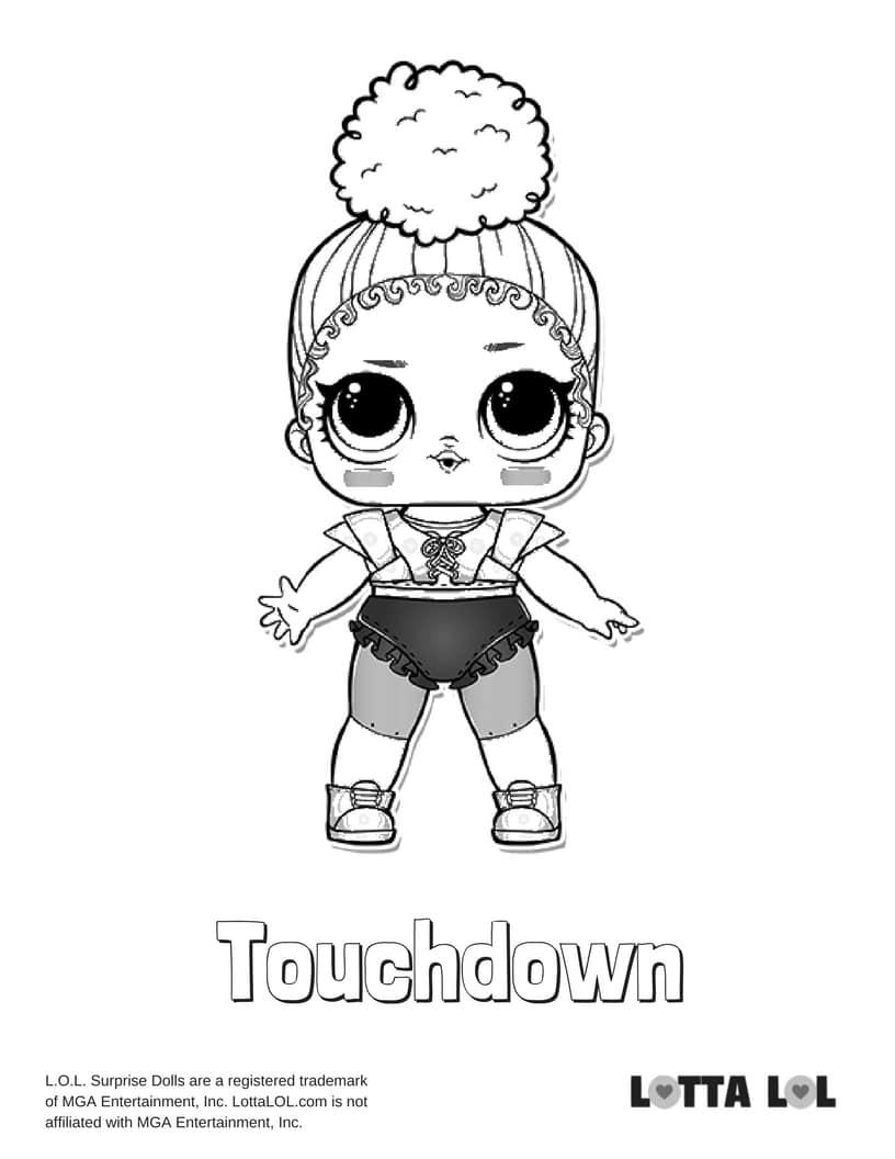 Touchdown LOL Surprise Doll Coloring