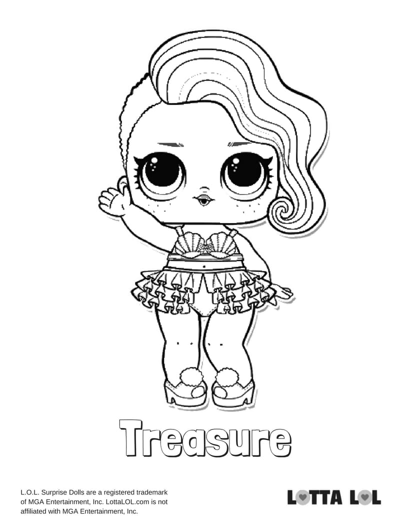 Treasure LOL Surprise Doll Coloring