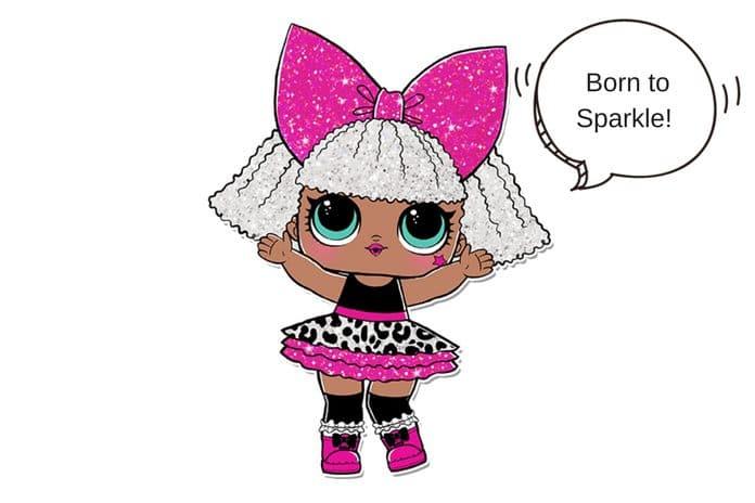 Diva glitter lol surprise doll coloring page lotta lol - Diva lol surprise ...