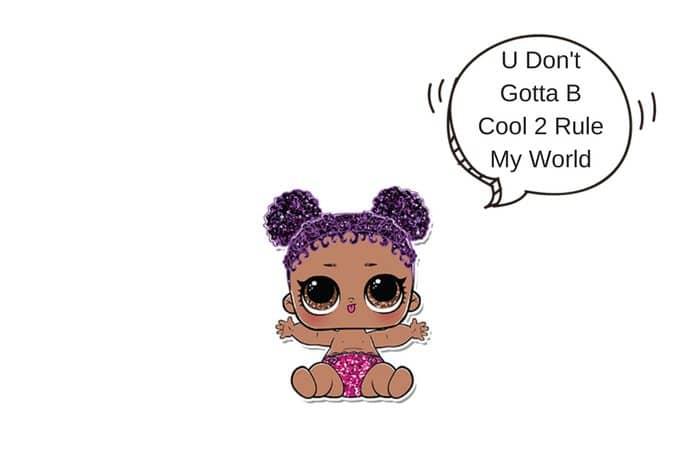 Lil Purple Queen LOL Surprise Doll Coloring Page Lotta LOL