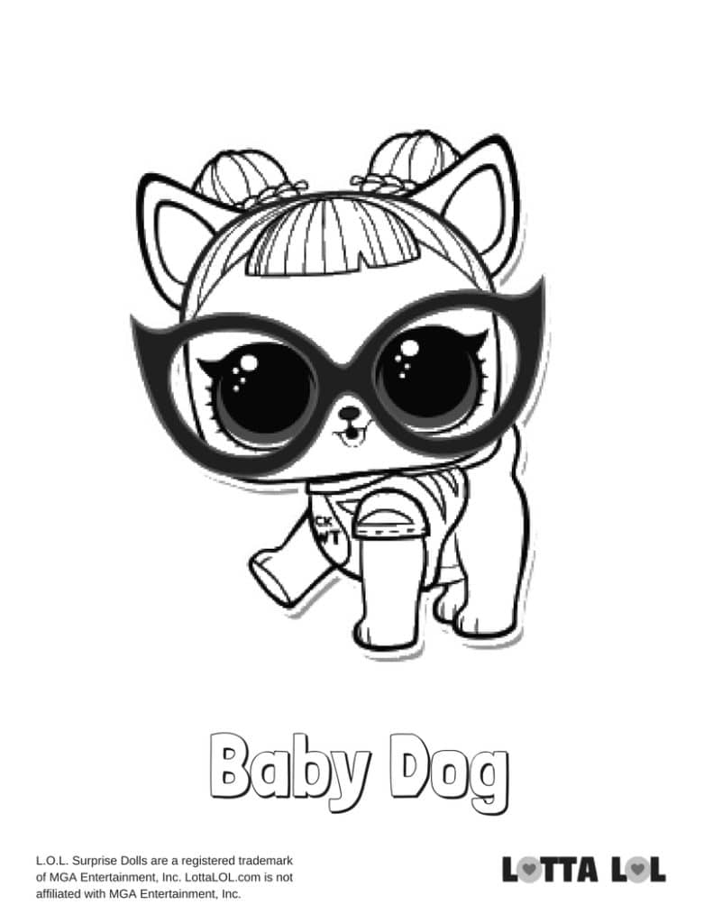 Baby Dog LOL Surprise Doll Coloring