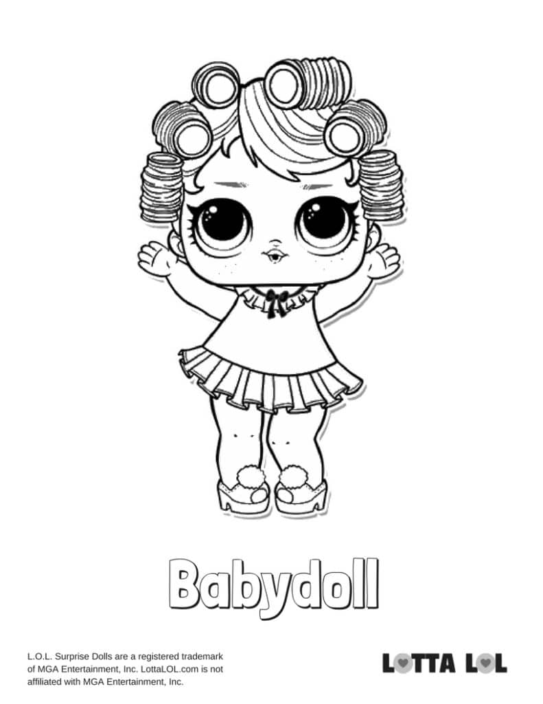Babydoll LOL Surprise Doll Coloring