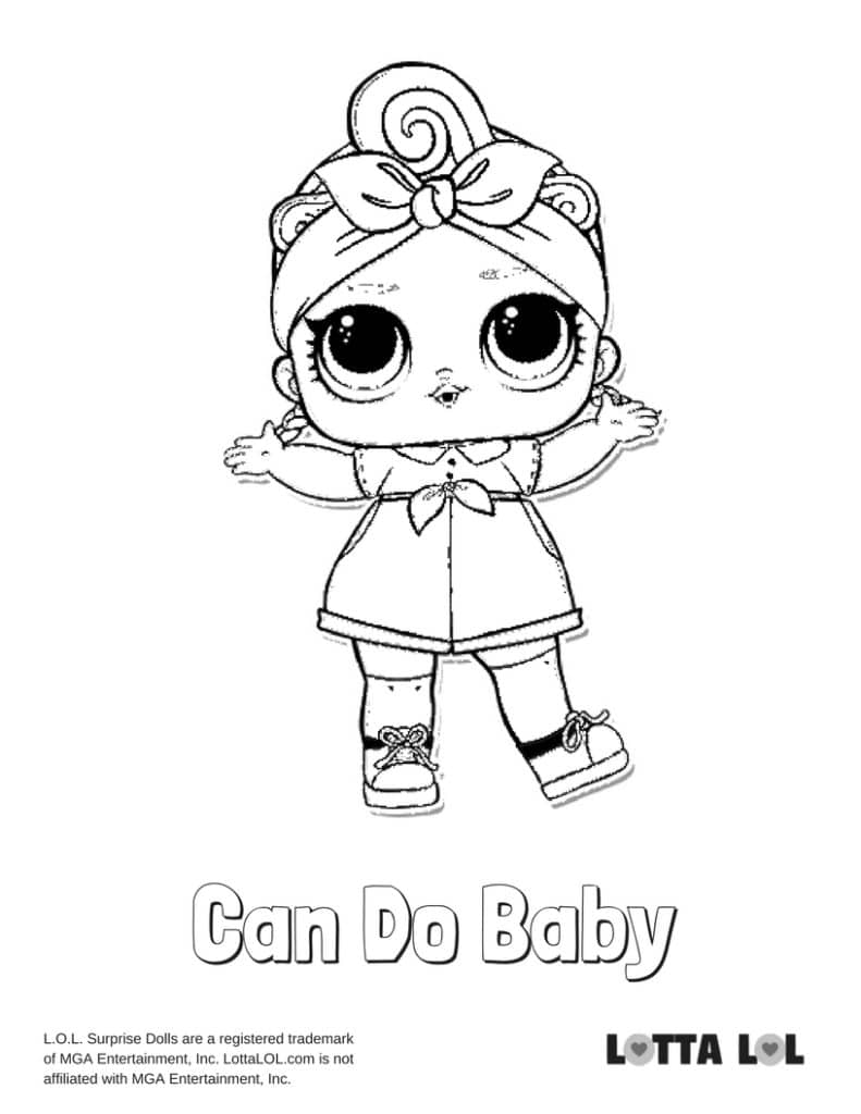 Can Do Baby LOL Surprise Doll Coloring