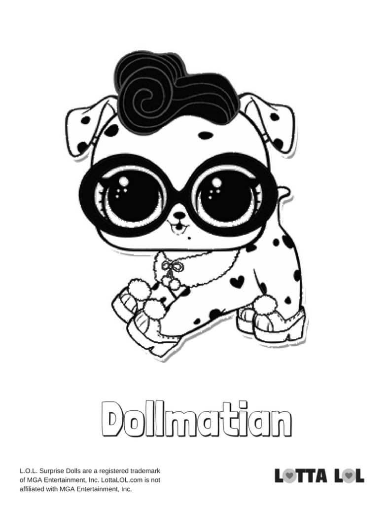 Dollmatian LOL Surprise Doll Coloring