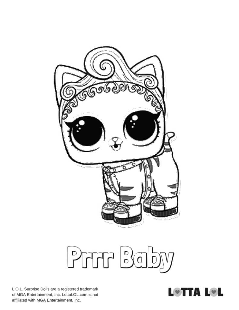 Purrr Baby LOL Surprise Doll Coloring