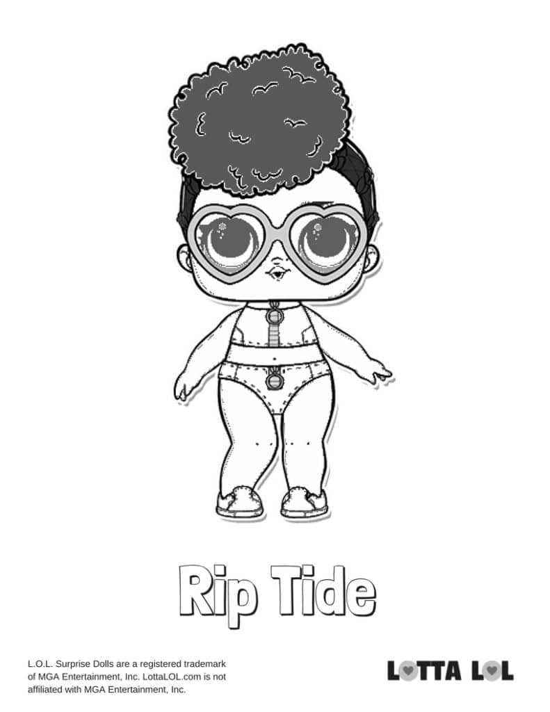 Rip Tide LOL Surprise Doll Coloring