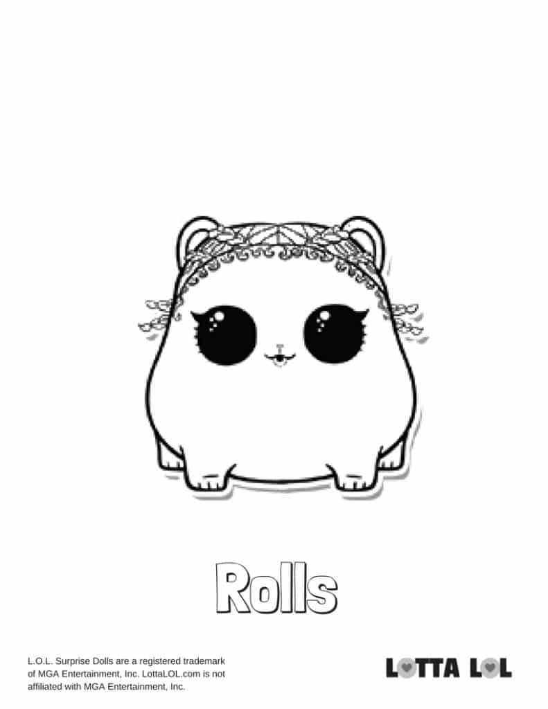 Rolls LOL Surprise Doll Coloring Page Lotta LOL
