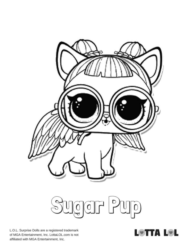 Sugar Pup LOL Surprise Doll Coloring