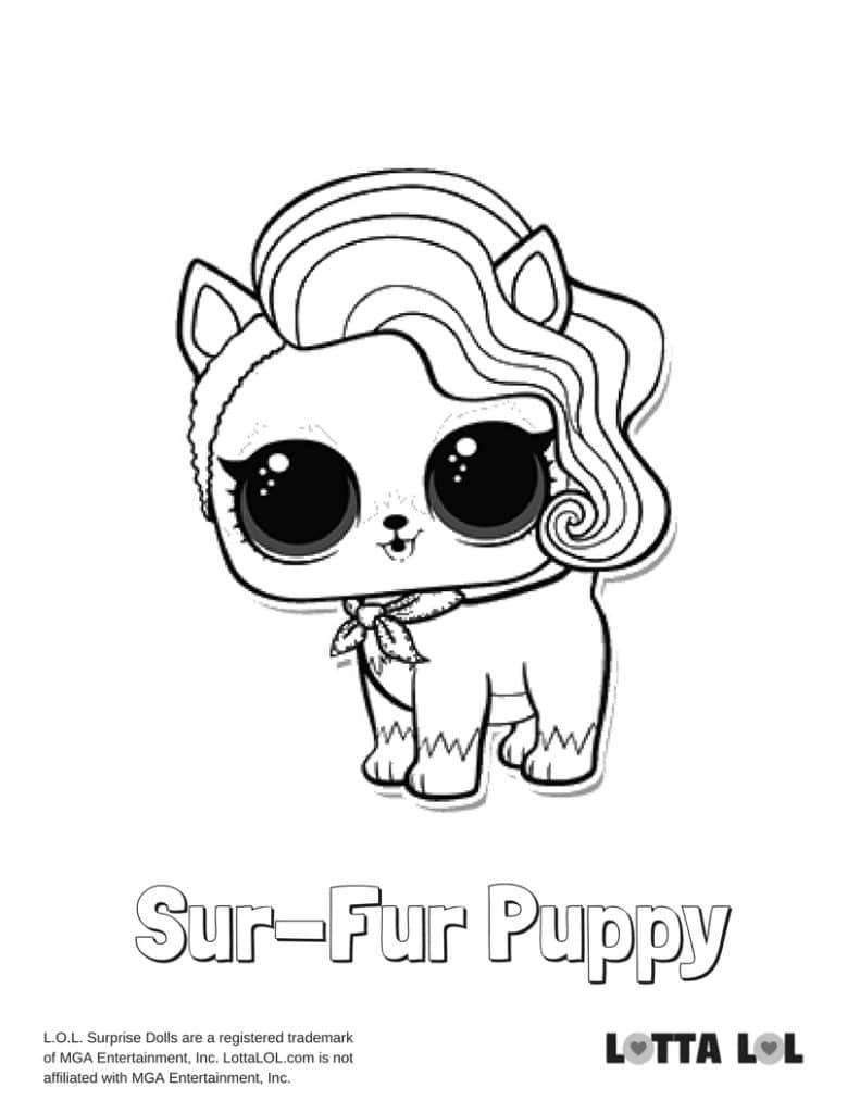 Sur-Fur Puppy LOL Surprise Doll Coloring Page | Lotta LOL