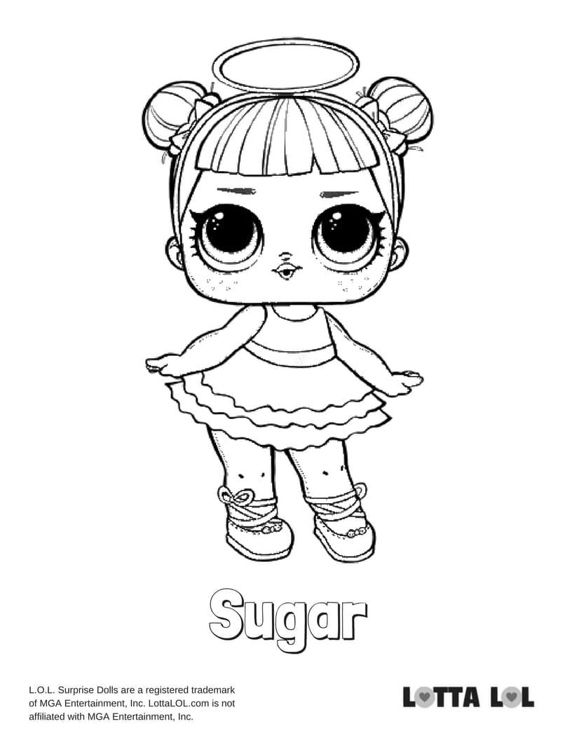 Sugar LOL Surprise Doll Coloring