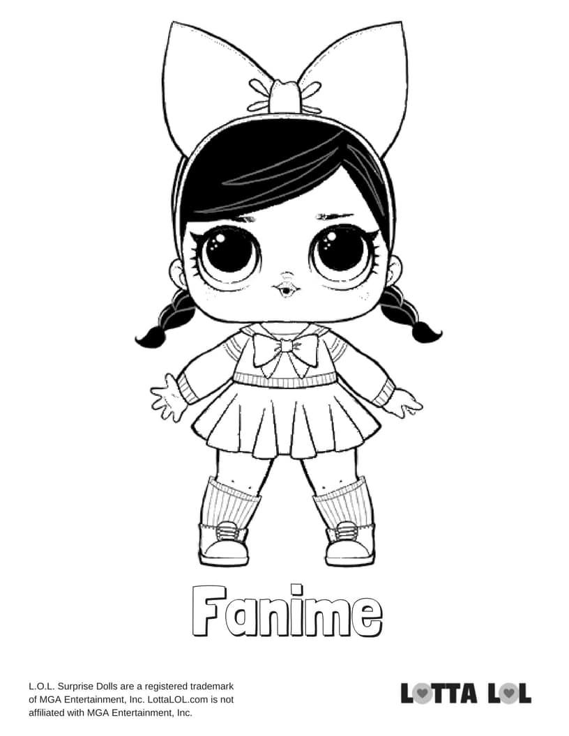 Fanime LOL Surprise Doll Coloring