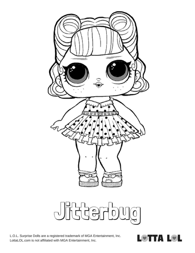 Jitterbug LOL Surprise Doll Coloring