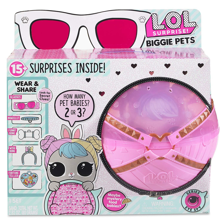 Full Case of 18 Surprise Balls LOL Surprise Pets Eye Spy Series 4 Pets New