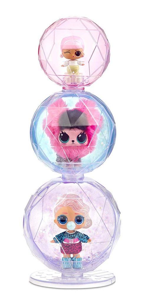 6 LOL Surprise Winter Disco Series Glitter Globe Doll FREE SHIPPING LOT OF 6...